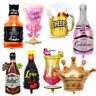 Party Decor Champagne Cup Beer Bottle Shape Foil Balloon Hen Party Supplies