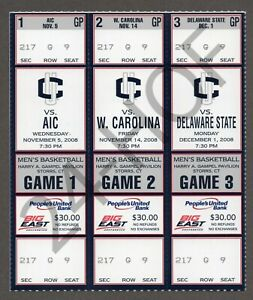 KEMBA WALKER COLLEGE DEBUT 1st GAME UCONN 11/14/2008 Full Ticket(s) 3-ATTACHED