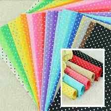 30cm Dot Felt Sheets DIY Craft Supplies Polyester Wool Blend Fabric 10 Colors TB