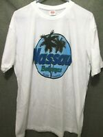 VTG NASSAU BAHAMAS GRAPHIC PALM TREE LOGO WHITE T-SHIRT TEE ADULT MEN'S 2XL/XXL
