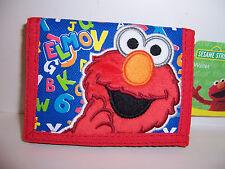 Licensed Sesame Street Elmo Alphabet Tri-Fold Wallet Card Money Case Holder New!