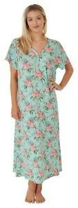 Ladies Long Jersey Short Sleeve Flamingo Nightdress Plus Sizes 14 -32