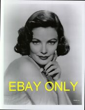 GENE TIERNEY, VINTAGE PHOTO PORTRAIT, FROM ORIGINAL NEGATIVE,DOUBLE WEIGHT