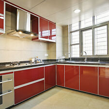 Red Wallpaper Removable Furniture Cupboard Door Cover Self Adhesive Wall Sticker