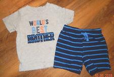 "*Infant Size 24 Mos-Child Of Mine Brand 2 Piece Short Set-""World'S Best Brother"