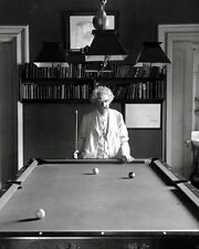 Mark Twain #1 Photo - Playing Pool Billiards B&W