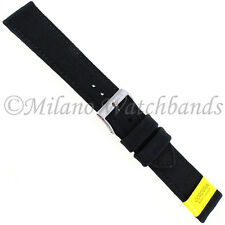 20mm Morellato Padded Stitched Genuine Cordura Canvas Black Watch Band Strap
