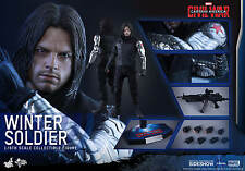 HOT TOYS CAPTAIN AMERICA: CIVIL WAR WINTER SOLDIER 1:6 FIGURE ~Sealed Brown Box~