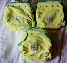 Lot 3 Happy Nappy Diaper w Inserts Adjustable Reusable Baby Cloth Diaper Nappies