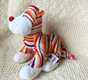 WEBKINZ STRIPED CHEEKY CAT PLUSH - HM695 ERROR 2 TAGS