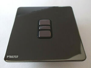 300W/VA ELECTRONIC DIMMER SWITCH 1G BLACK NICKEL FLAT PLATE SCREWLESS by G.E.T