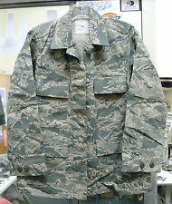 US AIR FORCE COAT SHIRT WOMAN'S ABU TIGER STRIPE  50/50 NYCO TWILL VAR SIZES NEW