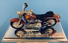 Harley Davidson 1999 FLSTF FAT BOY Maisto Miniature Model Motorcycle Used