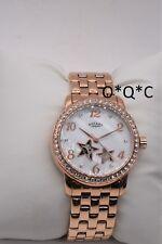 Rotary Ladies Automatic Skeleton Watch Rose gold Bracelet Stars and Swarovski