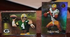 BRETT FAVRE GREEN BAY PACKERS PAIR OF INSERT RARE CARDS PULSATING / ARMED FORCES