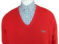 Vintage Mens Red Fox V Neck Sweater JC Penney Hipster Union Made Size XL