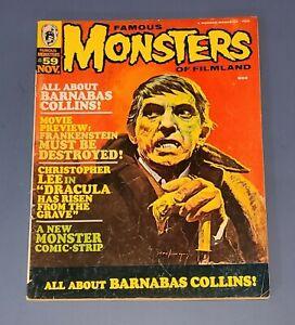 FAMOUS MONSTERS OF FILMLAND #59 NOV 1969 Dracula Frankenstein GOOD