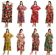 5 PC Wholesale Lot Women's Cotton Kaftan Bohemian Dress Loose Free Size Caftan