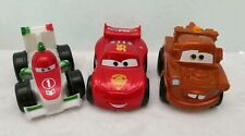 Disney Cars Wheelies Lot of 3 Metallic McQueen Mater Bernoulli