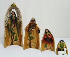 "New Roman, Inc. 4 Pc Set Of Large Holy Family Nesting Nativity Figures 10.75"" H"