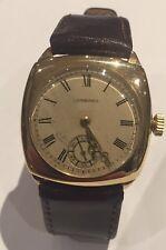 1933 Vintage 9 Carat Gold Longines Gents Wristwatch