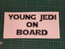 jedi on board vinyl sticker-decal,gift,car,children,disney,stars,safety,film