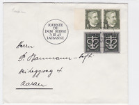 switzerland 1945 lausanne stamps cover ref r14847