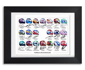 F1 FORMULA ONE 2021 ALL DRIVERS TEAMS 1 SIGNED POSTER PRINT PHOTO AUTOGRAPH GIFT