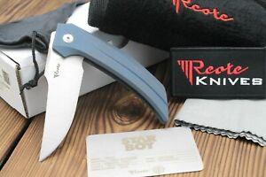 """Reate Tashi Bharucha Starboy Frame Lock Knife Blue Titanium (3.25"""" Satin)"""