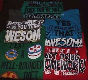 Boys Youth T-Shirt Graphic Tee Trendy Fun Choose Design Color Size: S/Small 6/7