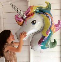 "Unicorn Head 42"" Supershape Foil Balloon Birthday Party supplies decorations"