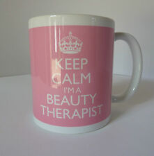 Beauty Therapist Mug Cup Keep Calm In Carry On Style Pink Ideal Gift Present