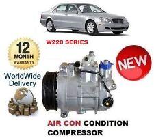 per Mercedes S320 CDi W220 1998-2005 NUOVO AC ARIA CONDIZIONATA COMPRESSORE