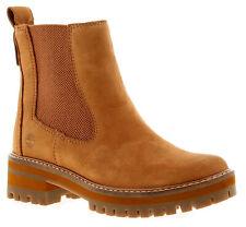 Timberland Tmbl A1J5J Womens Ladies Ankle Boots Tan
