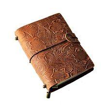 Handmade Vintage Embossed Flower Travel Diary Sketchbook Journal notebook