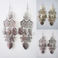 12 PAIRS NEW WHOLESALE FASHION LOT JEWELRY EARRINGS-ASSORTED COLORS-SILVER, GOLD