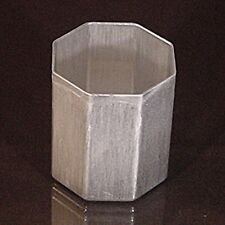 OCTAGON Seamless Aluminum Votive Candle Molds (Lot of 6)