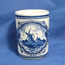Vintage Delft Hand Painted Vandermint Shotglass Ceramic Toothpick Match Holder