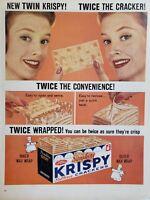 Lot of 2 Vintage 1960 Sunshine Krispy Saltine Cracker Ads