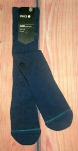 MENS STANCE NAVY BLUE CREW SOCKS SIZE L (9/12)