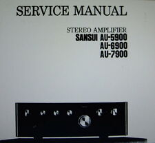 SANSUI AU-5900 AU-6900 AU-7900 ST AMP SERVICE MANUAL INC SCHEMS PRINTED ENGLISH