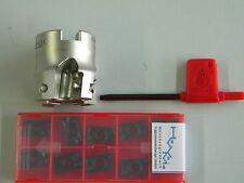 Messerkopf  40,0 für APKT 1604 incl. 10 Fräsplatten für Stahl APKT 1604 PDSR -30