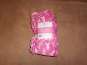 NEW, Northpoint Pink National Breast Cancer Foundation Plush Throw 50x60 in