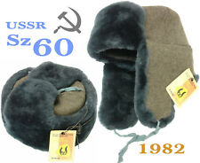 Sz 60 NEW Original natural fur Ushanka Soviet Officer USSR Military Winter Hat