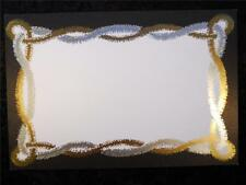 10 Silver-Gold Foil Inter-twined Garland Blank Invitation Stock 10 White Envs