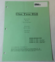 ONE TREE HILL revised partial script ~ 9 GREEN PAGES ~ Season 1, Episode 10
