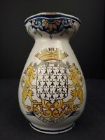 A French Antique Malicorne Hand Painted Faience Water Pitcher