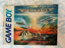 Aerostar Manual *MANUAL ONLY* Gameboy - Nintendo