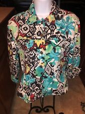 Women's Gaudy Couture  Colorful Jean Style Jacket with Sequins NWOT Med