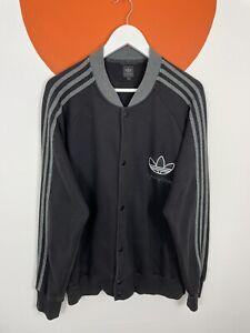 Men's Vintage Adidas Originals 60 Years of Stripes Cotton Bomber Jacket Black XL